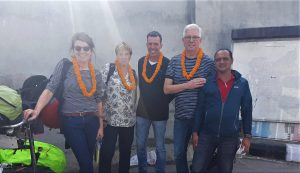 Clients on tour in Nepal