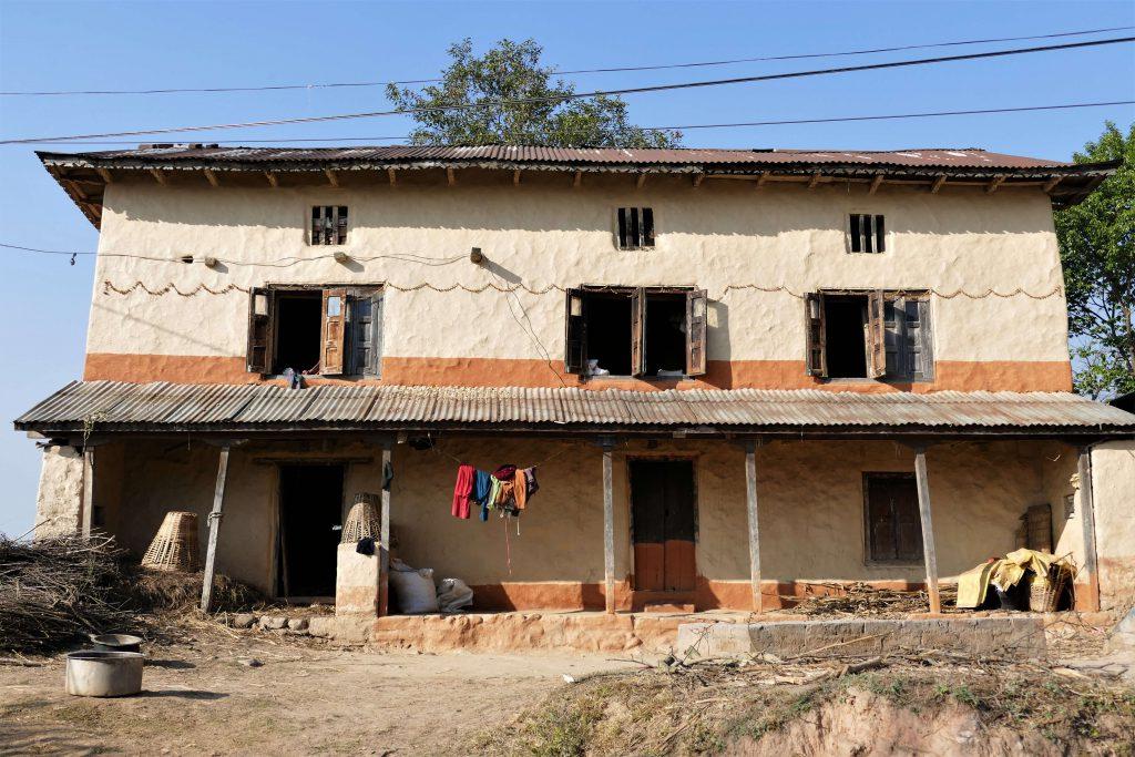 Kathmandu vallei trekking – typisch Nepalees huis op het platteland