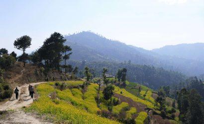 Kathmandu valley trek - walking in the hills around Kathmandu