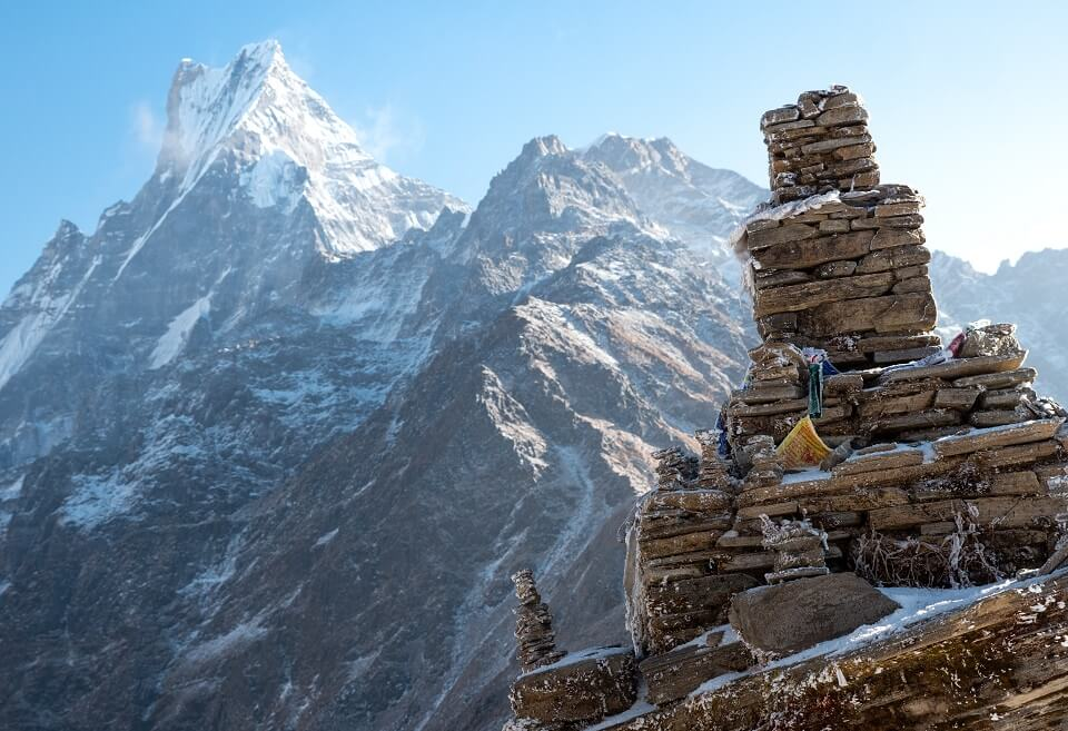 Mardi Himal trekking – zicht op de Machhapuchare of fishtail berg