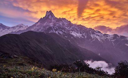 Mardi Himal trek - view of the Mount Machhapuchhare