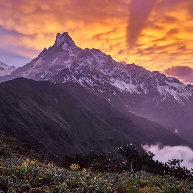 Mardi Himal trek - view of the Mount Machhapuchhare