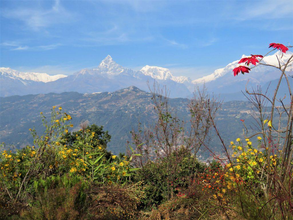 Panchase trekking – zicht op de Himalayas tijdens de Panchase trekking
