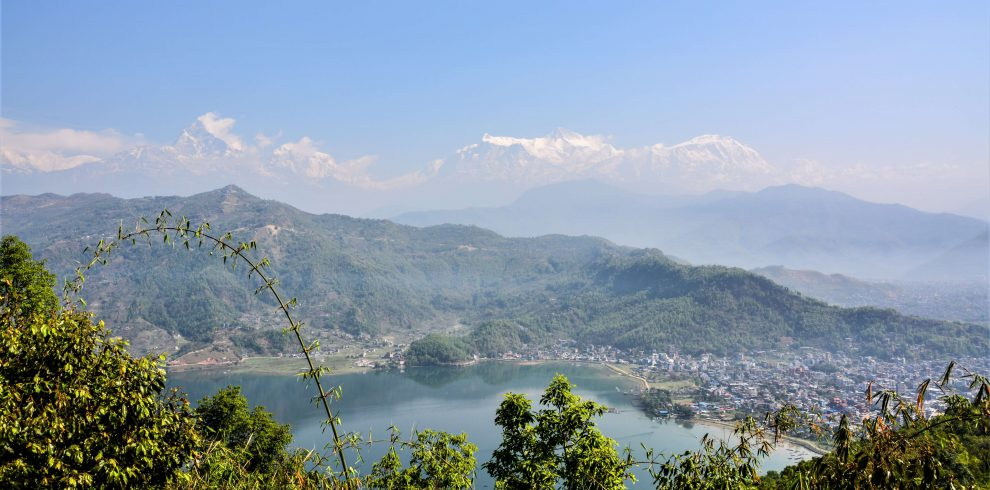 Roundtrip Nepal - View on Phewa Lake and the Himalayas