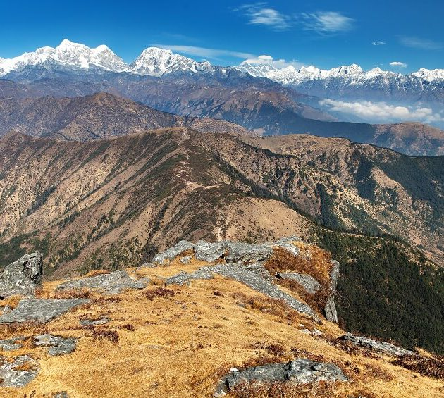 Pikey Peak - view on the Everest and Numbur range