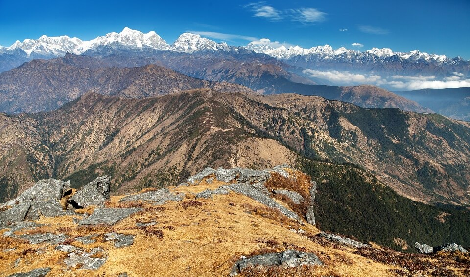 Pikey Peak - uitzicht op de Everest en omringende bergen