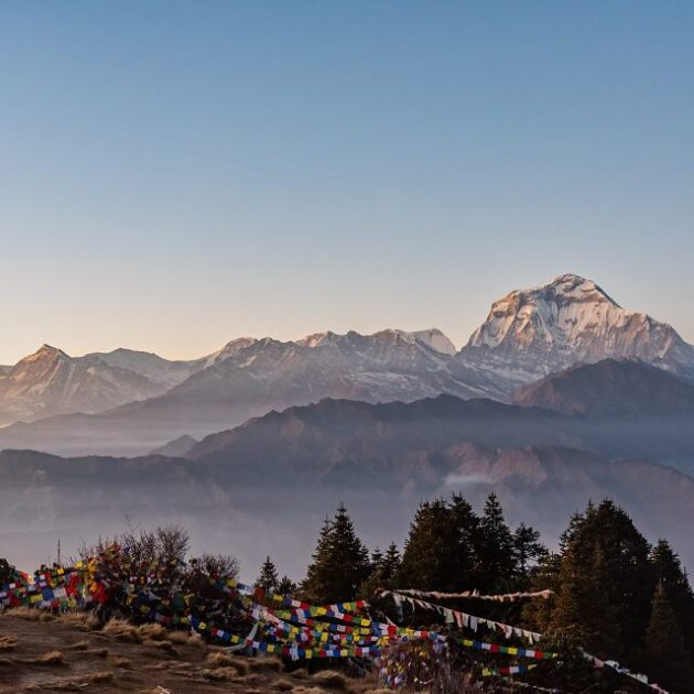 Poon Hill trek - sunrise on Poon Hill