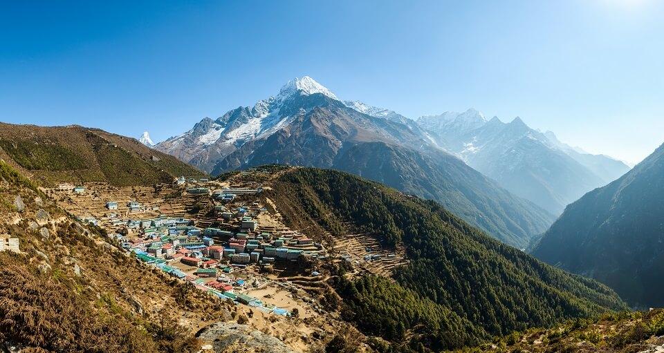 Sherpa Culture trekking – de trekking brengt je naar de hoofdstad van de Everest regio Namche Bazaar