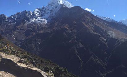Everest trail - view during Sherpa culture trek