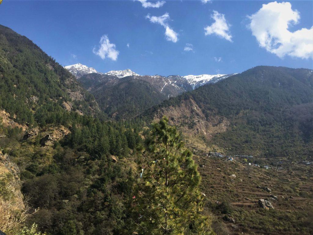 Tamang Heritage trekking – prachtige groene omgeving met mooi zicht op de Himalayas