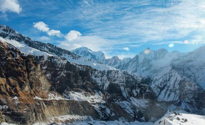 Annapurna Base Camp trek - view on the Annapurna mountain range