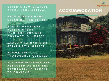Health and safety measures Nepal – accommodations