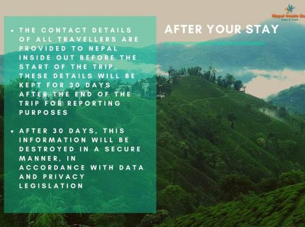 Health and safety measures Nepal – after your stay in Nepal