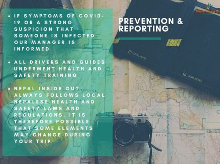 Health and safety measures Nepal – prevention and reporting