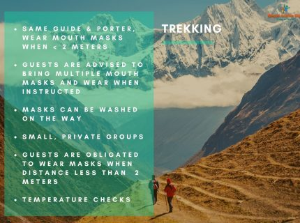 Health and safety measures Nepal – during trekking