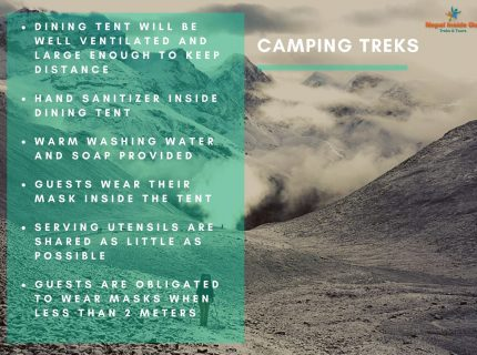 Health and safety measures Nepal – camping trekking