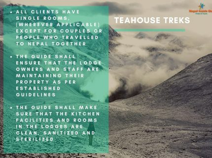 Health and safety measures Nepal – teahouse trekking