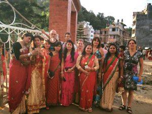 Participating in Teej festival