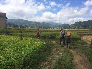 Walking in the Kathmandu valley