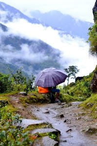 Nepal during monsoon
